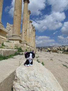 Ancient roman ruins in Jerash
