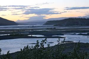 Copper River Valley at sunset