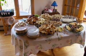The food is ready to be eaten.