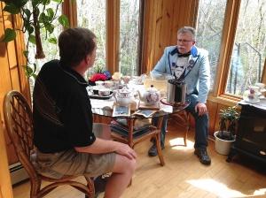 Tuxedo Party Minions Ian MacKenzie and Joe Popovitch enjoy a break at the punch bowl.