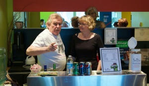 Sandy Roberton and Cindy Murphy worked the bar