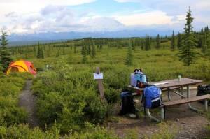 We have arrived at Wonder Lake campground!  (Denali)