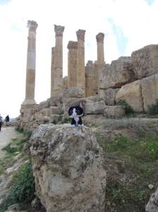 Hanging out at the temple of Zeus