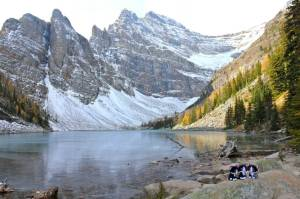 Pretty (chilly!) Lake Agnes