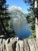 Minion Rachel Lynn visits Grand Teton National Park in Wyoming, USA by Wendy Bateson