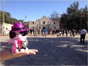 Minion Bethany at the Alamo