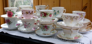 Tea cups at the ready (for Earl Grey's Earl Grey Tea of course!).