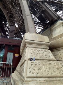 Hanging out at the Eiffel Tower in Paris, France