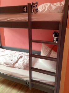 Sleeping at a hostel in Berlin, Germany