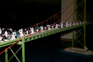 Minions were still crossing the bridge late into the night
