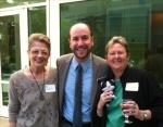 Kathie Dreher, Frank Teplin and Claudia Dechow with Minion Aggie